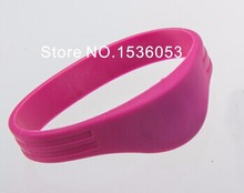 50pcs/lot Waterproof Silicone RFID Wristband With 1K TK4100 Chip 125KHz Tag For Water Park And Sauna Blue Free Shipping