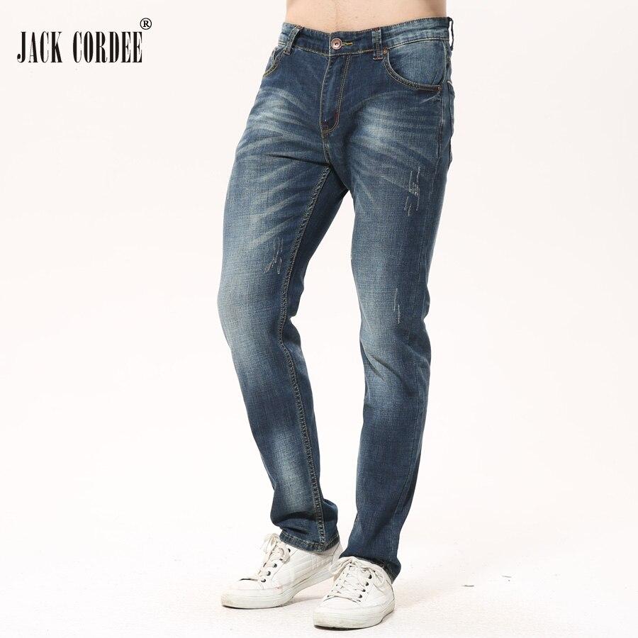 JACK CORDEE New Arrival Classic Straight Men Jeans Homme 2017 Casual Slim Jean Pants Cotton Denim Trouser Jeans Plus Size 28-40Îäåæäà è àêñåññóàðû<br><br>