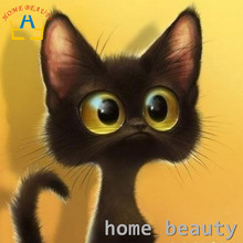 HOME BEAUTY diamond embroidery kits diy 5d diamond painting animals mosaic pattern picture of rhinestones crystals cats AA938(China)