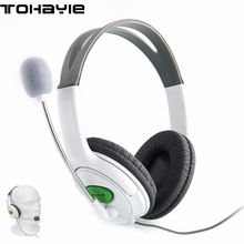 ToHayie Wired Stereo Gaming Headphone XBOX 360 Headset Headphone Mic 2-Pack WHITE Game Chat Live Microphone Compatible(China)