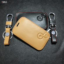 Latest Super quality car key chain key chain cover for Renault 2 buttons leather key bag dust collector auto part starline a91(China)