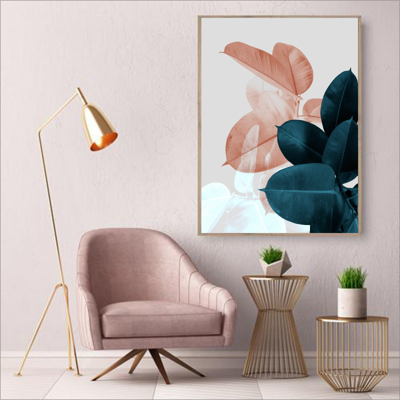 Blush Pink Leaves print