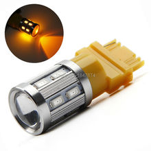2X 3156 led bulb 12smd 5630+5W sliver auto turn signal car led side clearance light reverse brake parking lamp 12V 6000K yellow