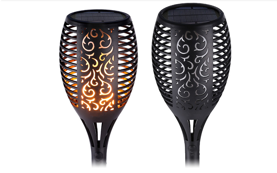 LED Flame Lamp Solar Waterproof Lawn Light Dancing Flickering Torch Lights Garden Outdoor Landscape Decorative Path Lighting (9)