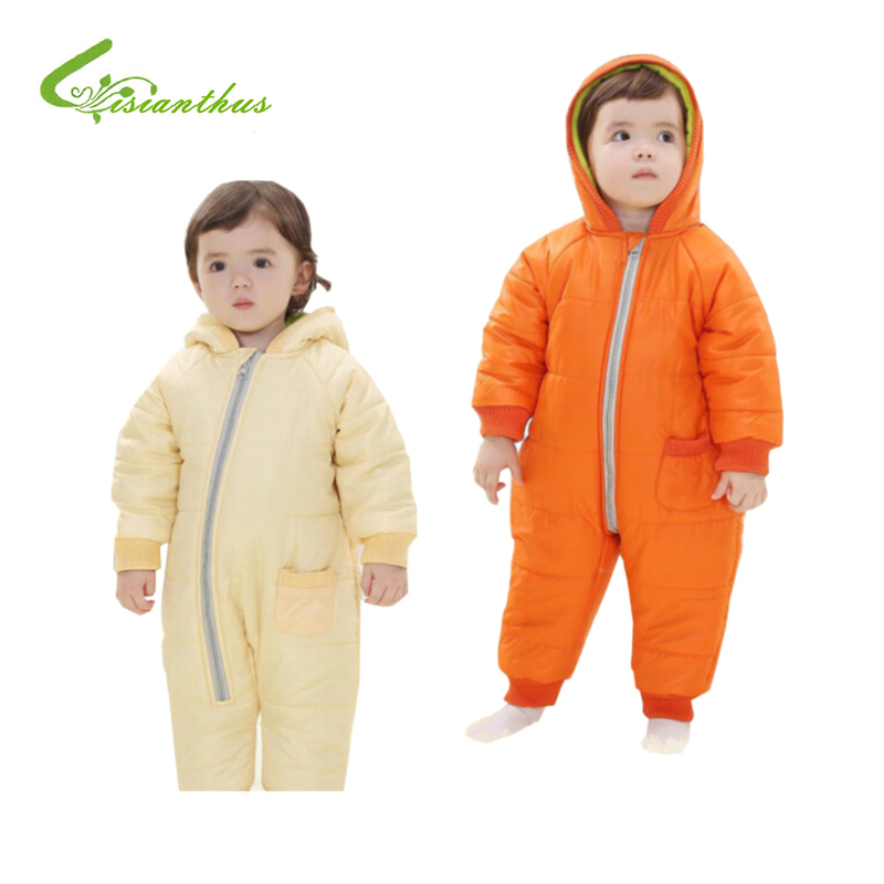 Baby Rompers Winter Thick Cotton Boys Costume Girls Warm Clothes Kid Jumpsuit Children Outerwear Baby Wear 4Colors Free Shipping<br><br>Aliexpress