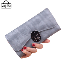 Fashion Wallet For Ladies Women Wallets Matte Leather Casual Women Wallet Elegant Female Purses Ladies Wallets Leather C2273/l