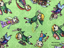 50*110cm Cartoon Games The Legend of Zelda Cotton Sewing Fabric Diy Handmade Craft boy Bedding Home Cloth Purse Quilt(China)