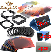 KnightX 24 Filter 9 Ring color cokin p series set For nikon canon d3200 d5200 d3300 1200d nd 650d d7200 lenses 49 52 58 67 77 mm(China)