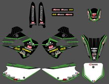 GRAPHICS & BACKGROUND DECAL STICKER Kit for Kawasaki KX85 KX100 2001 02 03 04 05 06 07 2008 2009 2010 2011 2012 2013 KX 85 100(China)