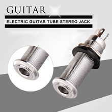 1Pcs Electric Guitar Tube Stereo Jack Inline Electric Bass Jack Guitar Output Socket Interface Connections Hole