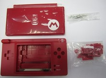 High quality Red shell case with small parts for NDSL housing case for nds lite