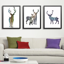 Monder Nordic Deer Animals Poster Wall Art Prints Wall Canvas Painting Printable Wall Pictures For Living Room Home Decor(China)