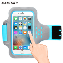 HAISSKY Sport Running Armband Case For iPhone 7 Plus 6 6s 5 5s SE Xiaomi redmi 4x note 4 oneplus 5 Touch Screen Arm Band Cover(China)