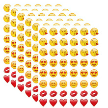 10 sheets  kiss emoji (48 Die Cut emoji stickers)  sticker Most Popular Emojis For Mobile Phone Kids  Home