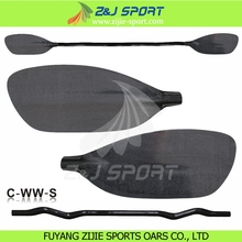 ZJ SPORT High Performance Strong Durable Carbon Fiber Whiterwater Werner Paddle Carbon Blade With Cranked and Straight Shaft(China)