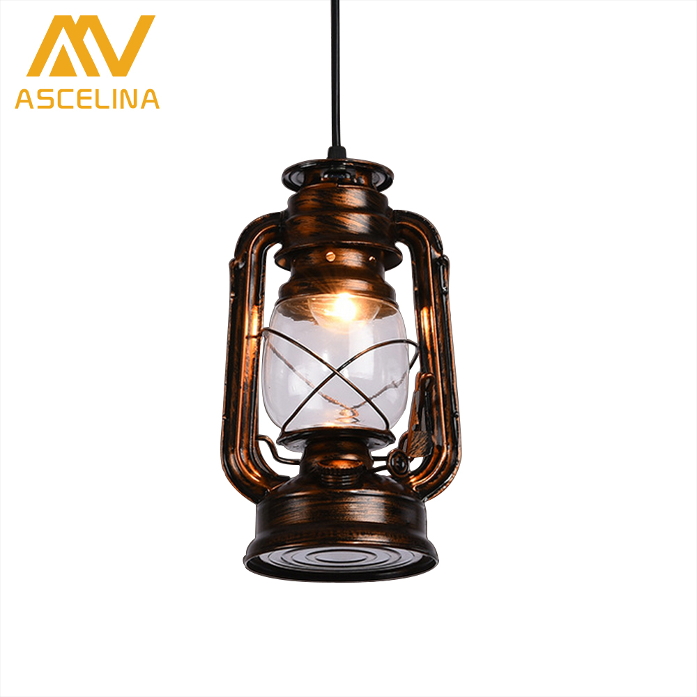 Loft lamp industrial lighting Vintage pendant lights led Pendant lamp for study room/Restaurant/ home lighting Black Rust lamps<br>