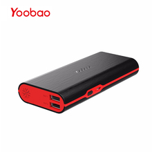 Yoobao 18650 Power Bank 10000mAh Fast Charge PoverBnak 2 USB Portable Charger External Battery PowerBnak For Xiaomi Mi 6 5 Phone(China)