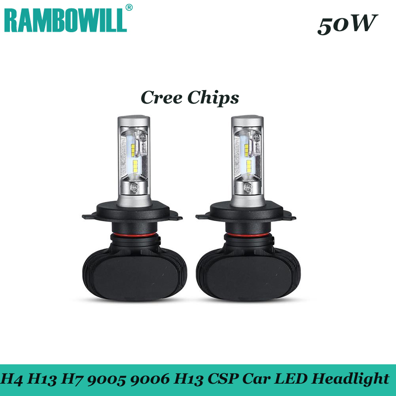 2x CREE Chips H4 H13 H7 9005 9006 H11 50W LED Car Headlight Bulbs 8000LM CSP LED Headlights All in one Head Lamp Front Light<br><br>Aliexpress