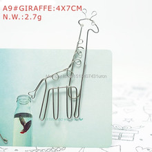 A9 GIRAFFE PAPER/NOTE CLIP PRACTICAL/NOVELTY/CREATIVE STAINLESS HAND-MADE ART CRAFTS WEDDING&BIRTHDAY&HOME&OFFICE&GIFT&PRESENT(China)