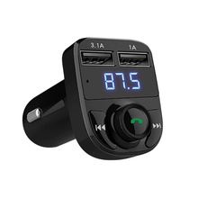 Bluetooth Car Kit Handsfree Set FM Transmitter MP3 Music Player 5V 4.1A Dual USB Car Charger Support TF Card 1G-32G Car-Styling(China)