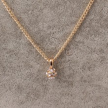 CZ Diamond Necklaces & Pendants Rose Gold Plated Fashion Imitation Gemstone Jewelry For Women Chain Accessiories