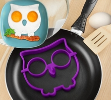 Cute Owl Eggs Breakfast Silicone Mold Pancake Fried Egg Ring Shaper Funny Non-stick Kitchen Cooking Tool Frying Mould Pancake