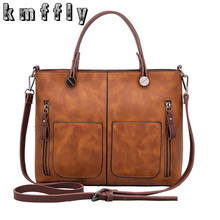 KMFFLY Women's Bags Handbags Women Famous Brands Casual Shoulder Bags PU Leather Female Big Tote Bag Ladies Hand Bags Sac MQ-1