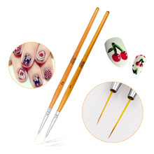 Ultra Thin Nail Art Brush Uv Gel Polish Painting Lining Multi Use 3d Manicure Accessory Diy Nails Tool 2 Style Drawing Pen New