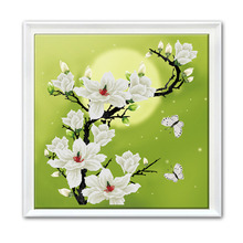 DIY Moonlight Yulan Counted Chinese Cross Stitch Kit Embroidery Home Decorations