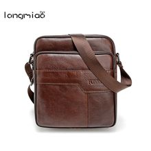 longmiao Vintage Genuine Leather Cowhide Shoulder Bags Men Messenger Bag Small ipad Male Tote Crossbody Bags Men's Handbags(China)