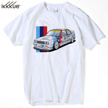 Funny Car T Shirts M3 e30 f36 Men's Summer Tops Short Sleeve Clothing Tee Classic Men Cool T-Shirt Male Supercar(China)