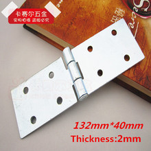 4pcs Furniture Butt Hinge Folding Flap Hinge Table Square Plate Turnover Hinge 132mm*40mm