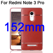 For Redmi Note 3 Pro SE Aluminum Metal Frame + Leather Sticker Cases For Xiaomi Redmi Note 3 Pro Prime Special Edition 152mm