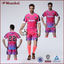 Pink color soccer jersey,team soccer uniform wholesale,custom your club soccer kits