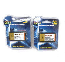 2pack Large-capacity 2000mAh 9V rechargeable battery 9 volt Ni-MH battery for Microphone Free shipping