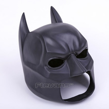 High Quality Black Batman Figure Toy Latex Full Face Mask Adult Superhero Bruce Wayne Party Props Costume Cosplay Rubber Masks