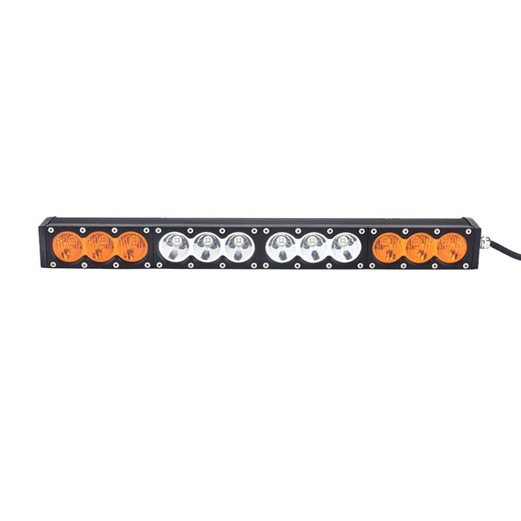 21.9inch 120W led light bar single row white+amber offroad for 4WD Truck SUV Car spot+flood combo police led roof light bar <br><br>Aliexpress