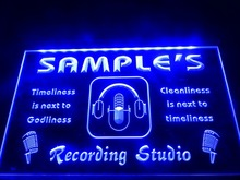 DZ043- Name Personalized Custom Recording Studio Microphone LED Neon Light Sign