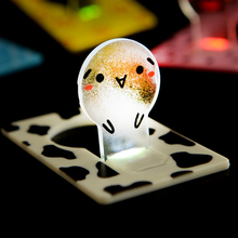 Mini Wallet Pocket Credit Card Size Portable LED Night Light Lamp Bulbs Cute paper card flashlight