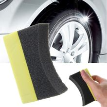 10 Pcs Car Professional Tyre Tire Dressing Applicator Curved Foam Sponge Pad Wholesale(China)