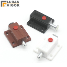 Factory outlets, plastic Automatic button latch/Out bolt Cabinet door latch /Furniture Hardware
