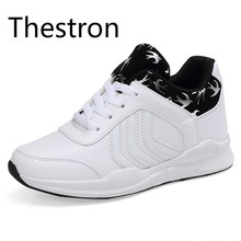 Thestron Running Women Shoes Ncreasing Height Leather Sports Sneakers Cheap Black White Red Walking Jogging Quality Shoes Brands(China)