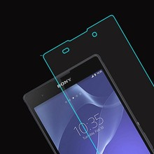 Tempered Glass Screen Protector for sony xperia E3 E4 E4g E5 C3 C4 C5 T3 Xa M2 M4 M5 HD Clear Glossy Anti-glare+Cleaning Kit