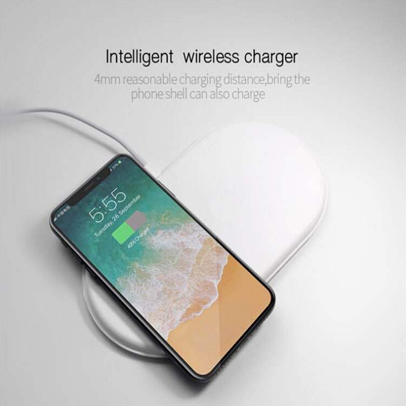 3 in 1 QI Wireless Charger For iPhone X For iWatch 1 2 3 Fast Charger Pad For Samsung Note8 S8Plus S7Edge S9 Charger for AirPods 3