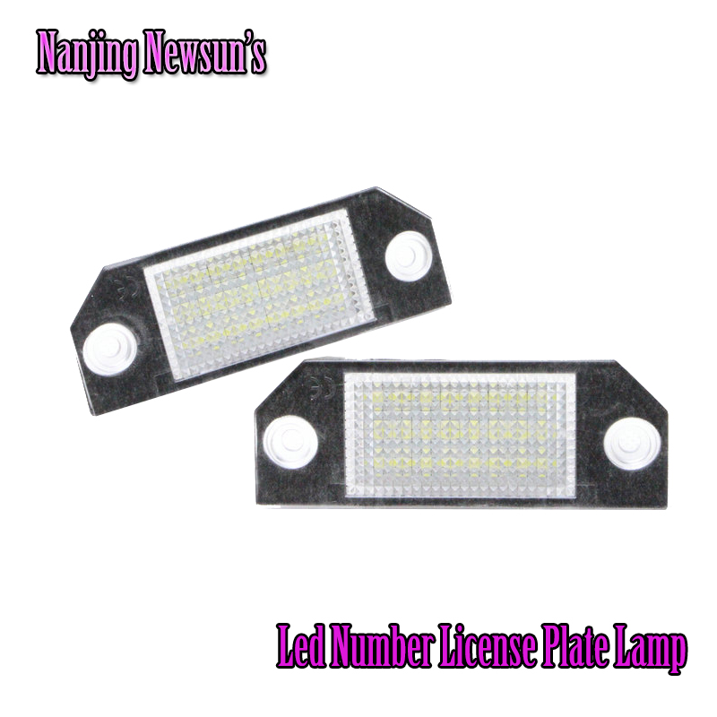 No Error Number Plate Lamp Replacement LED License Plate Light For Ford Focus C-MAX MK2 OEM No. 4052331 Plug&amp;Play Car Styling<br><br>Aliexpress