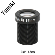 Yumiki 3.0Megpixel M12 MTV 16mm 3MP HD CCTV Camera Lens IR HD Security Camera Lens Fixed Iris