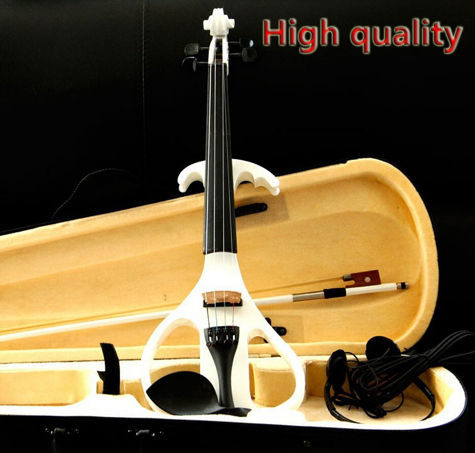 High quality new  style 4/4(T) White Electric violin Send violin Hard case, Handmade white electric violin with power lines<br><br>Aliexpress