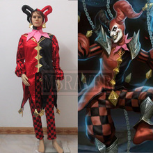 The Demon Jester Wild Card Shaco Cosplay Costume Anime Custom Made Uniform