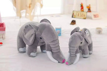 "Free shipping 1pcs 23cm=9"" RUSS Elephant stuffed animal toys Cute Small Elephant plush toys for kids best Birthday gift(China)"