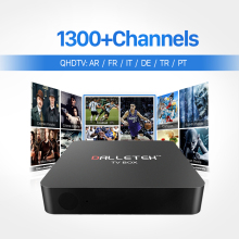 European TV Box Android Smart Media Player IPTV Receiver 1300 Live IPTV Channels French Arabic Italy Turkish Netherlands Top Box